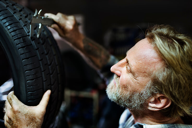 checking tire tread depth